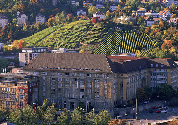 Incredible but true, 200 meters behind the Main Station there is a vineyard ! It is a protected area, to show to everybody, that viniculture was always one of the most important economical factors in Stuttgart, before Mercedes-Benz, Bosch and Porsche.